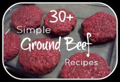 Sub ground TURKEY.Lots and lots of recipes for ground beef! Almost all of them include photos. So helpful for a busy night. I Love Food, Good Food, Yummy Food, Tasty, Beef Dishes, Food Dishes, Main Dishes, Meat Recipes, Cooking Recipes