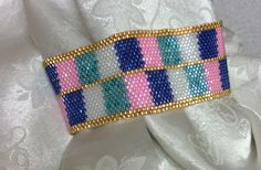 My first peyote bracelet and my own pattern