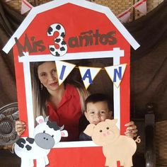 Marco fotos granja Farm Animal Party, Farm Animal Birthday, Cowgirl Birthday, Farm Birthday, Boy Birthday Parties, Farm Themed Party, Barnyard Party, Farm Party, Decoration
