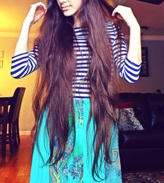"""""""But if a woman have long hair, it is a glory to her: for [her] hair is given her for a covering."""" -1 Corinthians 11:15.  Love my long hair."""