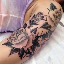 Znalezione obrazy dla zapytania tatuaż róża