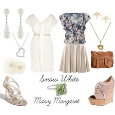 Snow White/ Mary Margaret, created by bethygrace16 on Polyvore
