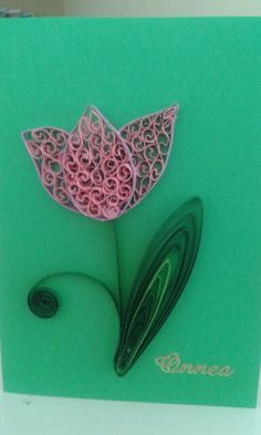 Tulip by quilling