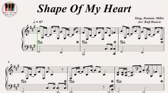Shape Of My Heart - Sting, Piano