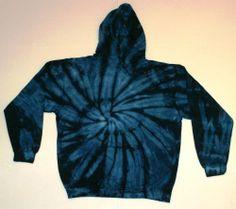 Tie Dye Hoodie Sweatshirt Navy Sizes S, M, L, XL, 2X, 3X. Check Description
