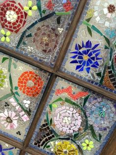 How to Make Garden Art With Old Windows