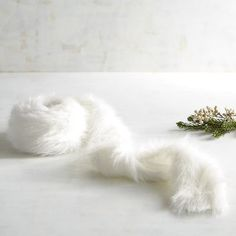 White Faux Fur Garland | Pier 1 Imports