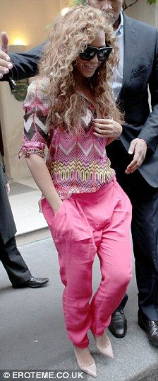 All pink but she still manages to keep it cool, casual and not too girly!