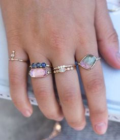 Brand new styles are now up on the site! Featuring new Tourmaline beauties !