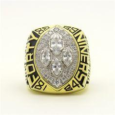 Custom 1989 Super Bowl XXIV San Francisco 49ers Championship Ring