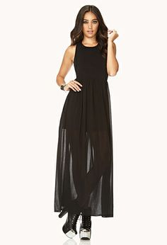 Standout Maxi Dress | FOREVER21. just bought this and it's floor-length and kinda classy
