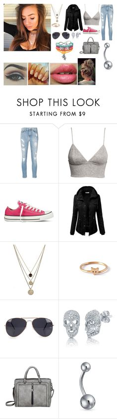 """So Happy"" by royal-bliss ❤ liked on Polyvore featuring Calvin Klein Jeans, H&M, Converse, J.TOMSON, LowLuv, Grace + Scarper, Kylie Cosmetics, NLY Accessories, BERRICLE and Bling Jewelry"