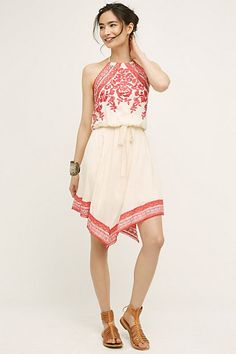 Amaranthine Halter Dress #anthropologie