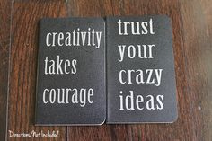diy inspirational quote notebooks   Directions Not Included