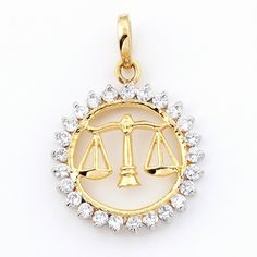 Scales of Justice diamond pendant