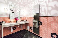 Mister Jiu's: Two-Toned Hexagon Bathroom   Installation Gallery   Fireclay Tile