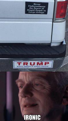 Oh, the irony....