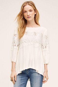 Desi Blouse #anthropologie (in ivory)
