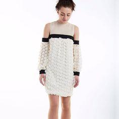 Oleander Dress White & Black   Victor Xenia London   Wolf & Badger
