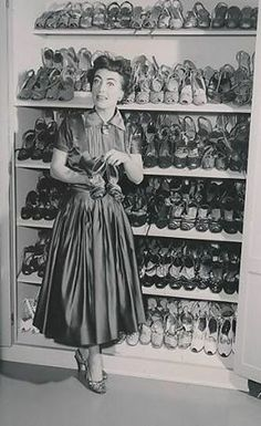 Joan Crawford's shoe collection is incredible!