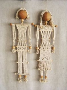 RESERVED - Vintage Macrame Male and Female Portrait Sculpture, Couple, Handmade Dolls, Man and Woman Figures, Wall Decor, Original Fine Art