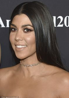 Kourtney and Khloe Kardashian attend Angel Ball despite Kanye West hospitalsation Kardashian Jenner, Kourtney Kardashian, Big Curly Hair, Curly Hair Styles, Sleek Hairstyles, Perfect Eyebrows, Female Stars, Kanye West, Makeup Looks