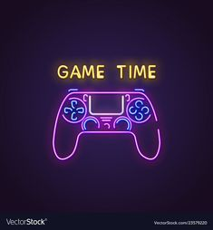 Gamepad neon banner vector image on VectorStock