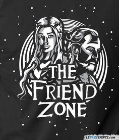 The Friend Zone, game of thrones funny, meme, t-shirt, queen Daenerys Targaryen, Khaleesi, Jorah Mormont, friendzone, friendzoned,