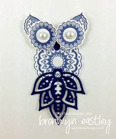 Paisleys and Posies Small Owl #addinktivedesigns                                                                                                                                                                                 More