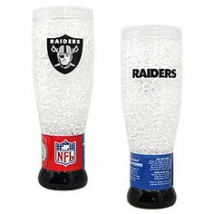 Oakland Raiders NFL Crystal 16oz Pilsner