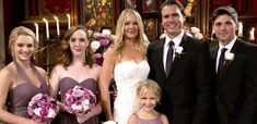 In celebration of their upcoming wedding, The Young and the Restless stars Sharon Case and Joshua Morrow took a trip down memory lane for Sharon and Nick. Joshua Morrow, Sharon Case, Young And The Restless, Bridesmaid Dresses, Wedding Dresses, Soaps, Take That, Memories, Actors