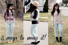 3 ways to wear the Mint Twill Jeans