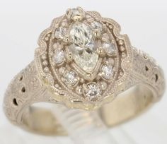 14k Gold and Diamond Ring 1797