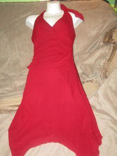 Speechless red floaty layered fairy halter dress small #Speechless #halter #Cocktail