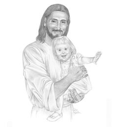 JesusArtUSA Christian Art images of Jesus Christ. Old Classics-New Art Jesus Laughing, Jesus Drawings, Pencil Drawings, Jesus Is Risen, Pictures Of Jesus Christ, Down Syndrome Kids, Church Pictures, Christian Artwork, Lds Art