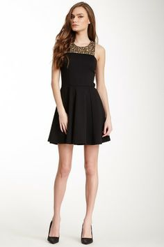 Eight Sixty Embellished Fit & Flare Dress by Eight Sixty on @HauteLook