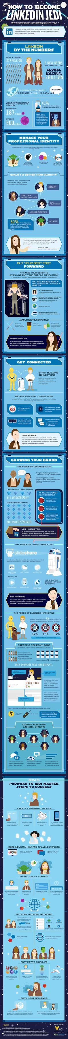 Become a LinkedIn Jedi {Infigraphic} - Best Infographics