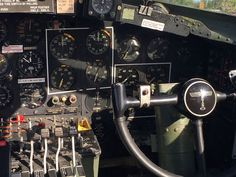 Inside the cockpit of B-17.  DUXFORD 2016