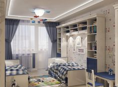 Данную публикацию я хотела бы адресовать тем читателям, у которых есть проблема нехватки места в квартире в связи с наличием более 1 ребенка. Как разместить двоих и более детей в одной комнате? Как учесть такие особенности, как разница в поле, возрасте, увлечениях каждого ребенка и так далее? В данной подборке есть варианты как для самых маленьких детишек-погодок, так и уже подростков. Kids Room Furniture, Bedroom Furniture, Bedroom Decor, Kids Bedroom Dream, Small Room Bedroom, Girl Room, Home Interior Design, Decoration, Home Decor