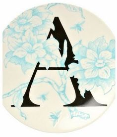 Make Your Own Monogram Plate - Home Stories A to Z