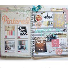 Pinterest inspiration smash book page idea