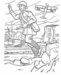armed forces day coloring page us army world war i battlefield - Army Coloring Pages