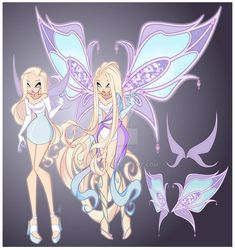 Winx Club, Winx Magic, Sailor Moon Girls, Fairytale Fantasies, Drawings Of Friends, Club Design, Art Drawings Sketches Simple, Cute Characters, Girl Cartoon