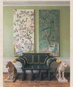Hand Painted Wallpaper, Framed Wallpaper, Wallpaper Panels, Chinese Wallpaper, Georgian Interiors, Oriental Decor, Window Coverings, Chinoiserie, Frames On Wall