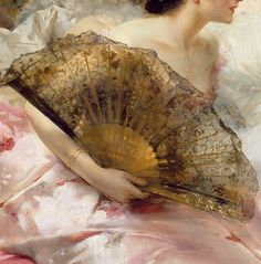 After the Ball (detail), by Conrad Kiesel (1846 - 1921),