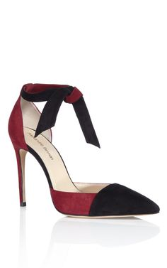 Alexandre Birman Vino & Black Lady Like Knotted Pump