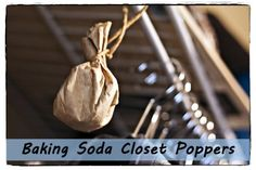 for freshening the air in closets, etc. use  Baking soda Coffee filters Twine or string or such Essential oils of your choosing