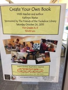 In partnership with Friends of the Library and the Tuckahoe Library in Richmond, Virginia, we were able to bring the 4th annual create your own book workshop to K-5 students and future authors!
