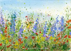 Tips to Create splattered paint flower art-no drawing required-myflowerjournal.com (3)