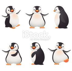 Penguins Royalty Free Stock Vector Art Illustration